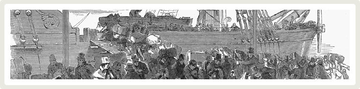 Irish Famine Ship - The Irish Archives