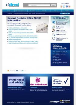 The General Register Office, Northern Ireland