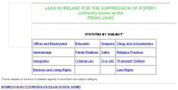 Penal Laws Of Ireland